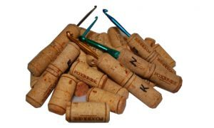 picture of corks and crochet hooks