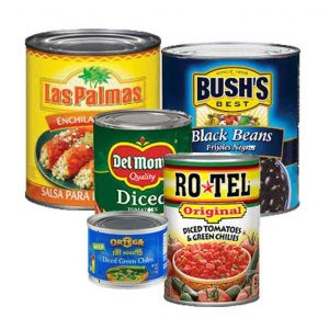 canned goods used in soup